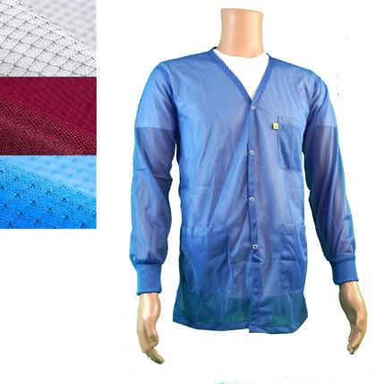 Light Weight ESD Jacket Vneck Knit Cuff